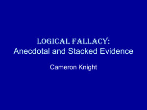 Logical Fallacy: Anecdotal and Stacked Evidence