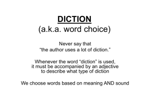 Rhetorical Terminology--DICTION