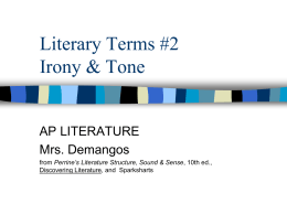 Literary Terms #2 - AP English Literature and Composition