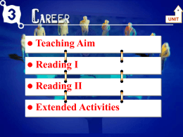 Unit 3 Career