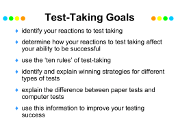 Test-Taking Goals