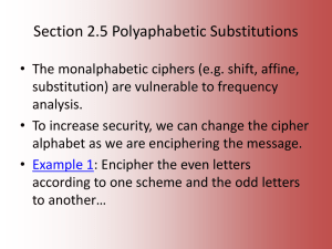 Polyalphabetic Substitutions