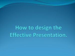 Components of a presentation
