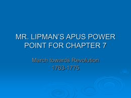 MR. LIPMAN`S APUS POWER POINT FOR CHAPTER 7