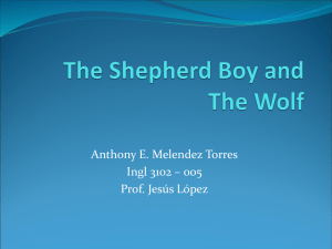 AEMT The Shepherd Boy and The Wolf