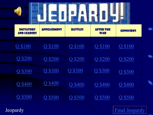 Jeopardy - SharpSchool