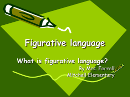 Figurative language power point 3rd - 5th