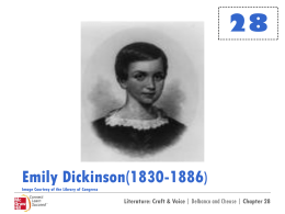 Emily Dickinson Powerpoint