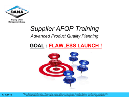 Supplier_APQP_Training - the Dana Supplier Network