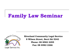 Family-Law-Seminar - Riverland Community Legal Service