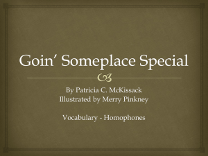 Goin` Someplace Special