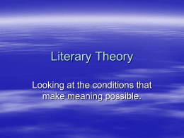 Literary Theory Pwr Pt. - Garnet Valley School District