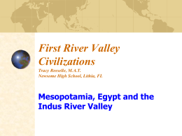 From Prehistory to the First River