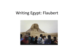 Flaubert in Egypt