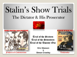 Stalin`s Show Trials