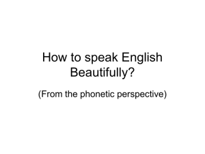 How to Speak English Beautifully(lecture)