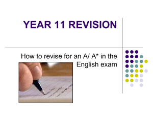 A* in the English exam - original PowerPoint presentation, (ppt, 752Kb