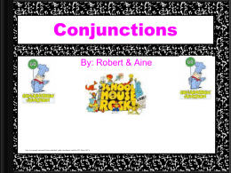 Conjunctions - HCC Learning Web