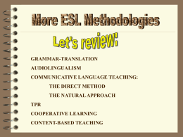 More ESL Methods
