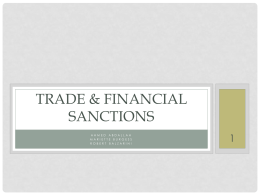 TRADE & Financial Sanctions - International Trade Relations