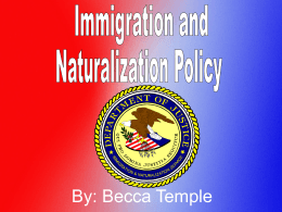 Immigration by Becca - Fremont Christian School