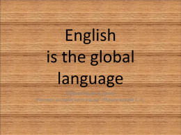 English is the global language