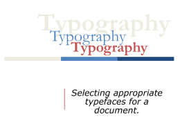 Typography Power Point Notes