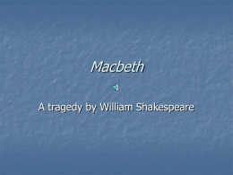 Macbeth and Iambic Pentameter