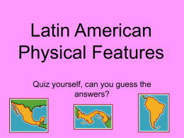 South America Physical Features