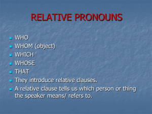 Relatives Pronouns