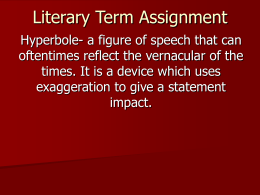 Literary Term Assignment