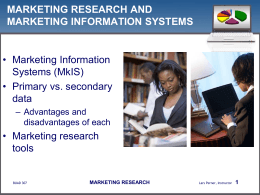 Marketing Research - Consumer Behavior