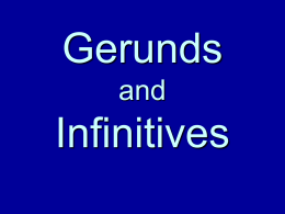 Gerunds Infinitives - ESL Open Computer Lab at Lane