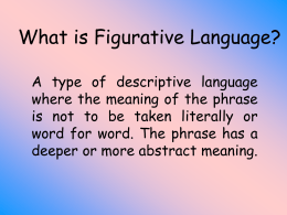 Figurative Language