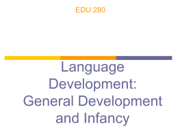 Language Development: Infancy