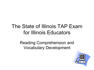 The State of Illinois Basic Skills Exam for Illinois Educators
