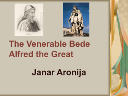 The Venerable Bede and Alfred the Great