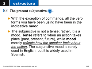 subjunctive mood - gallegoscentral
