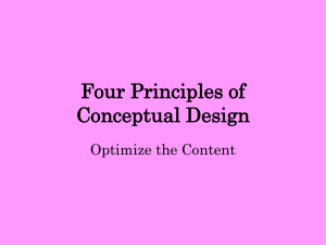 Four Principles of Conceptual Design