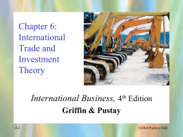 International Trade and Investment Theory