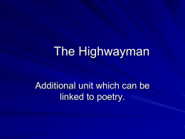 The Highwayman course material