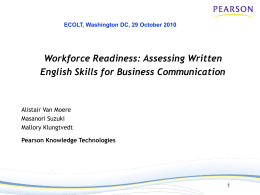 Assessing Written English Skills for Business Communication