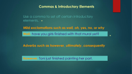 Commas & Introductory Elements
