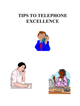 Telephone Usage and Etiquette
