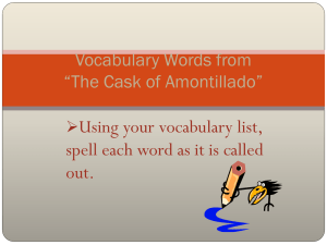 "Vocabulary Words from ""The Cask of Amontillado"""