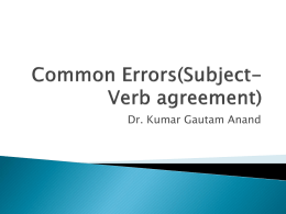 (Common Errors(Subject