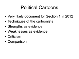 Guide to Political cartoons
