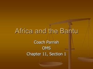 Africa and the Bantu