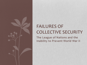 Failures of Collective Security