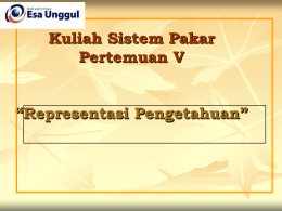 Artificial Intelegence Pertemuan 5